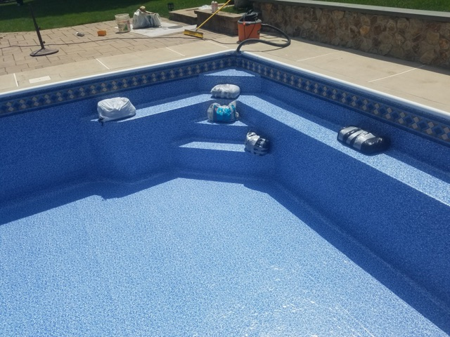 Stairs Vinyl Over Steel Mid State Pool Liners