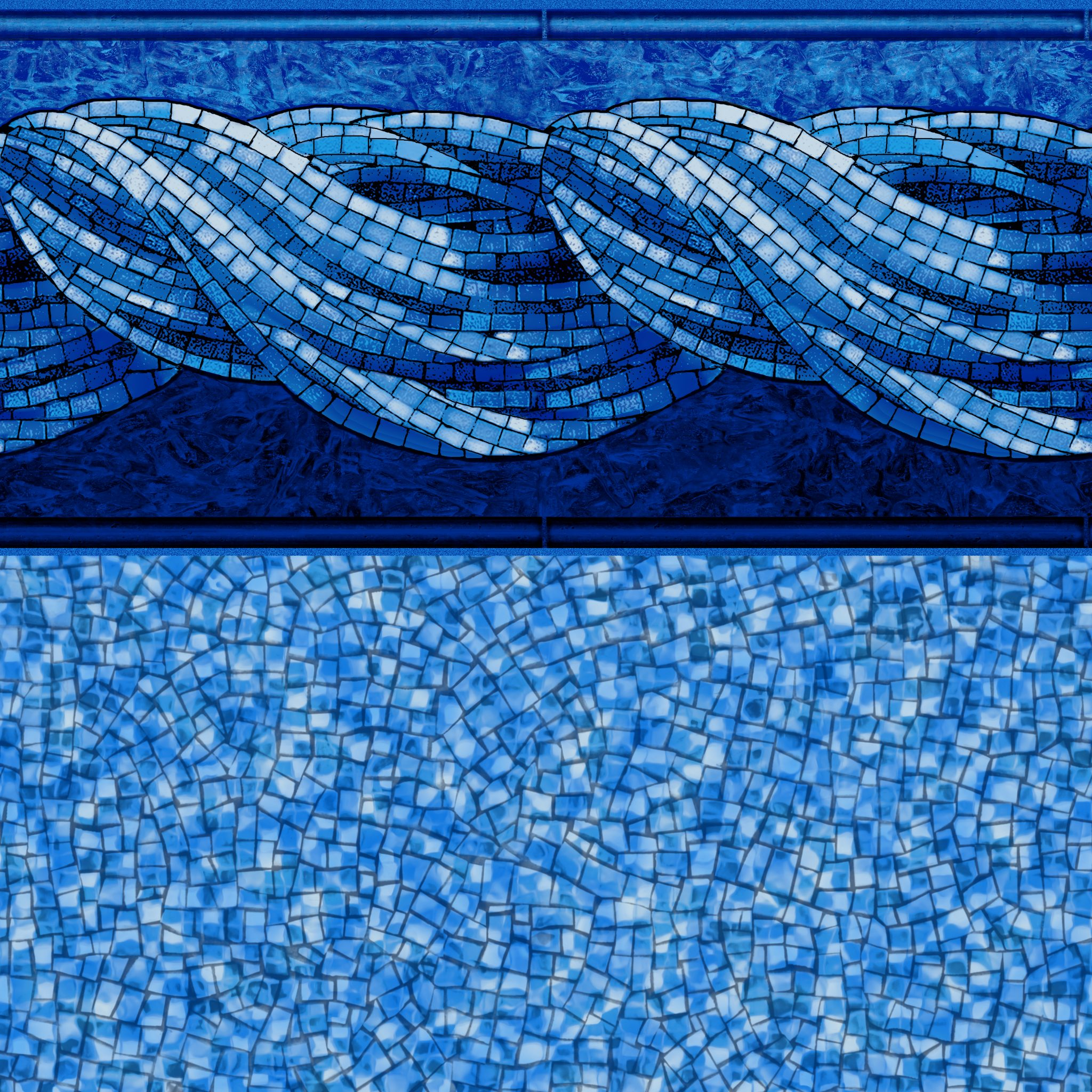 Vinyl liners patterns gallery mid state pool liners for Pool design pattern
